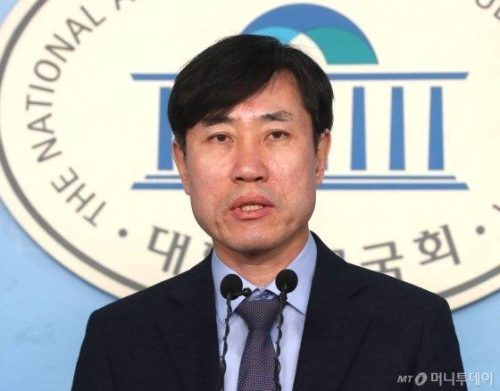 하태경 미래통합당 의원이 지난 1월14일 오전 서울 여의도 국회 정론관에서 기자회견을 갖고 있다. /사진=홍봉진 기자