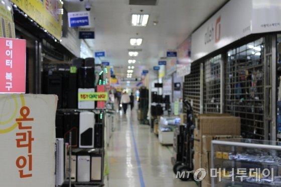 서울 용산구 선인상가 내부 전경. /사진=이재윤 기자