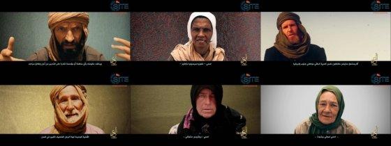 이슬람국가(IS)가 텔레그램을 통해 공개한 인질 6명을 담은 영상. /사진=AFP