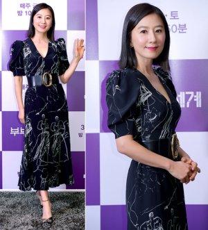 '부부의 세계' 김희애, 300만원대 원피스 패션…