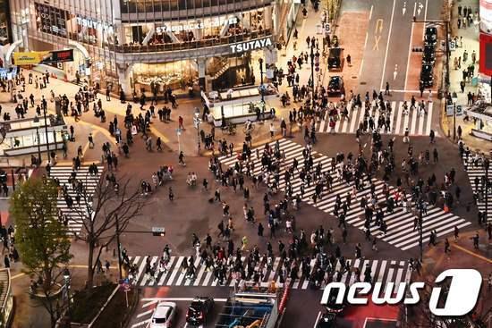 도쿄 번화가 시부야 거리. © AFP=뉴스1