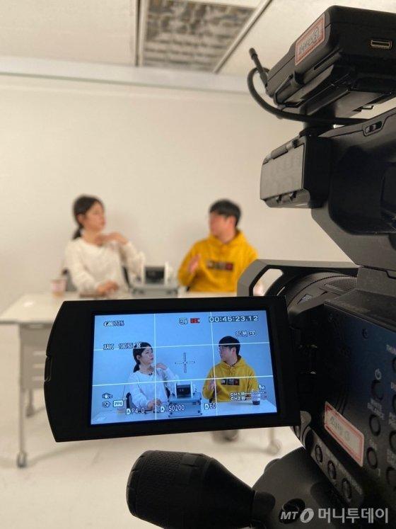 유튜브 가이드 '머투맨' 촬영현장/ 사진=김소정 인턴기자