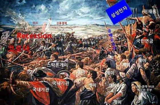 최근 일부 누리꾼들은 주식시장에서 개인과 외국인 투자자가 치고받는 상황을 동학농민운동에 빗대 '동학개미운동'으로 표현한다/사진=인터넷 커뮤니티 캡쳐