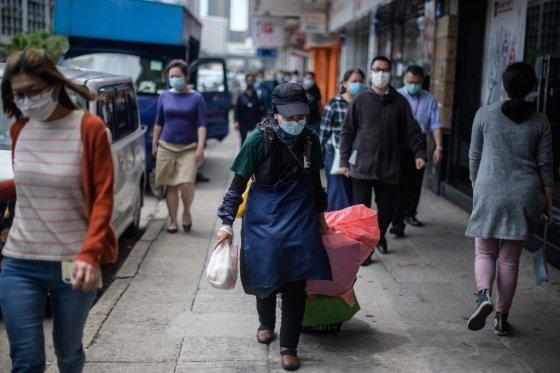 홍콩의 거리/사진=AFP