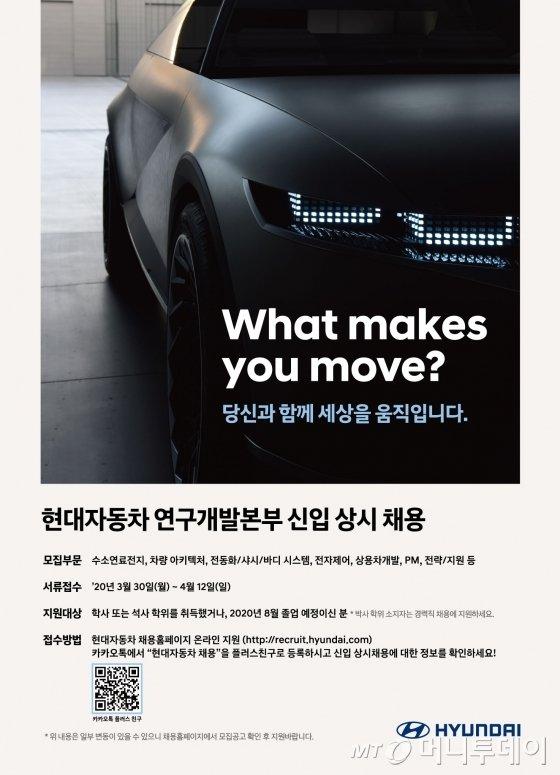 현대자동차 연구개발본부 신입직원 채용 포스터. /제공=현대자동차