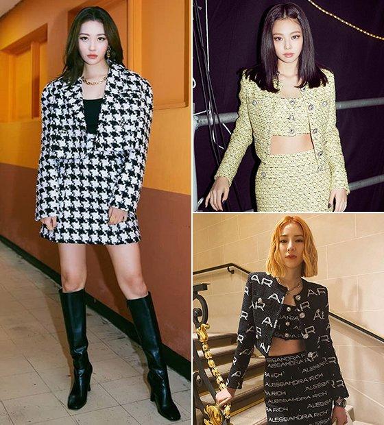 가수 선미, 그룹 블랙핑크 제니, 모델 아이린/사진=각 스타 인스타그램