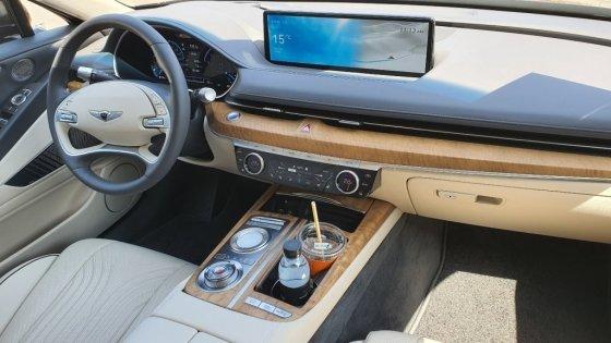 제네시스 '신형 G80' 시승차량 내부. /사진=이건희 기자
