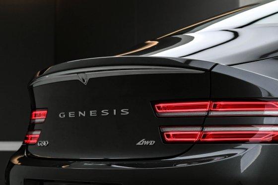 제네시스 '신형 G80' 뒷모습. /사진제공=현대차그룹