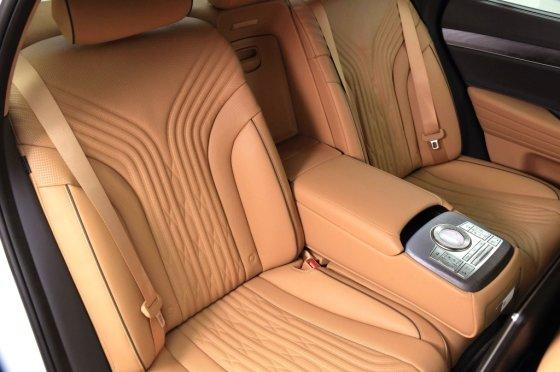 제네시스 '신형 G80' 뒷좌석. /사진제공=현대차그룹