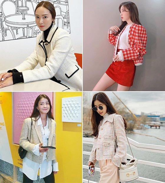 (왼쪽부터 시계 방향으로)가수 제시카, 그룹 레드벨벳 아이린, 배우 기은세, 이시영/사진=각 스타 인스타그램