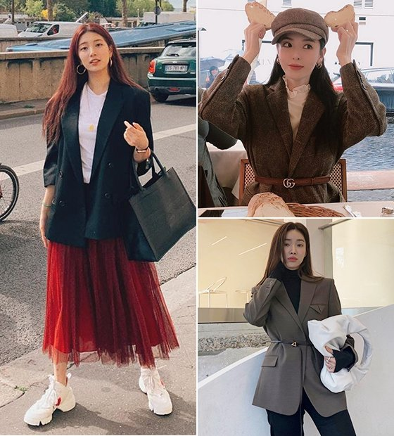가수 겸 배우 수지, 배우 이다희, 차정원/사진=각 스타 인스타그램