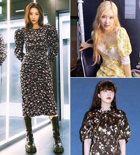 가수 선미, 그룹 블랙핑크 로제, 그룹 레드벨벳 조이/사진=각 스타 인스타그램