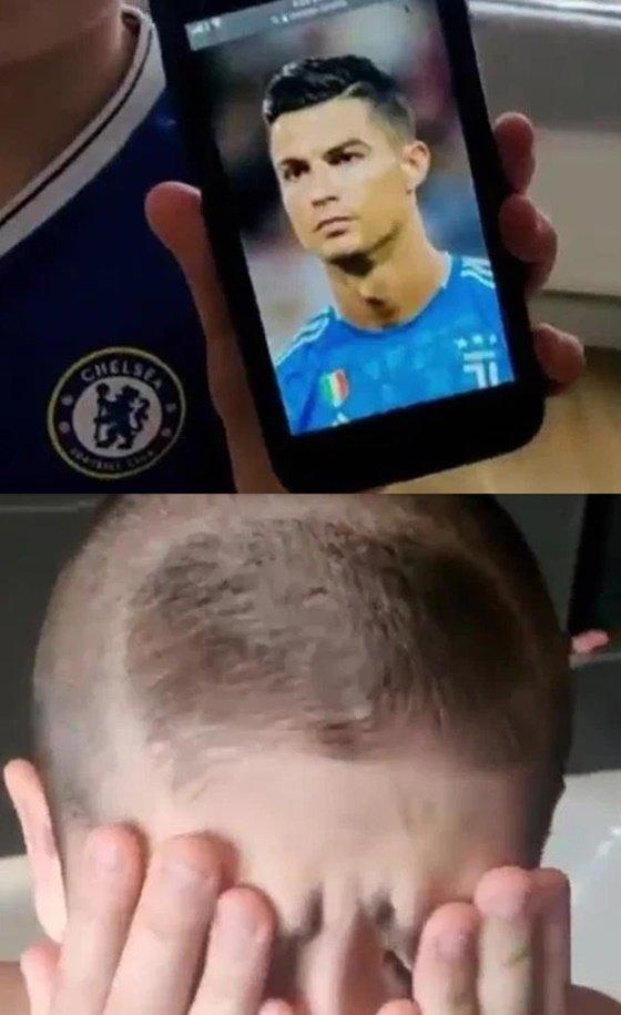 충격 받은 꼬마 첼시 팬. /사진=영국 더선 캡처