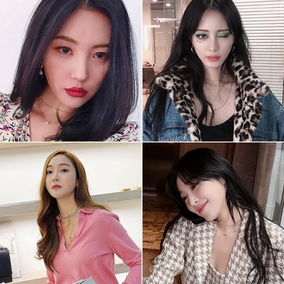 /사진=가수 선미, 배우 한예슬, 가수 제시카, 티파니 인스타그램