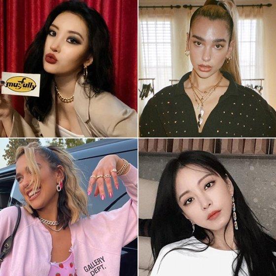 /사진=가수 선미, 두아 리파, 배우 한예슬 인스타그램