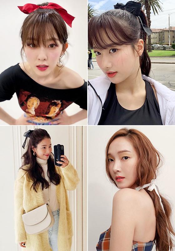 (왼쪽부터 시계 방향으로) 그룹 레드벨벳 아이린, 에이프릴 나은, 가수 제시카, 배우 기은세/사진=각 스타 인스타그램