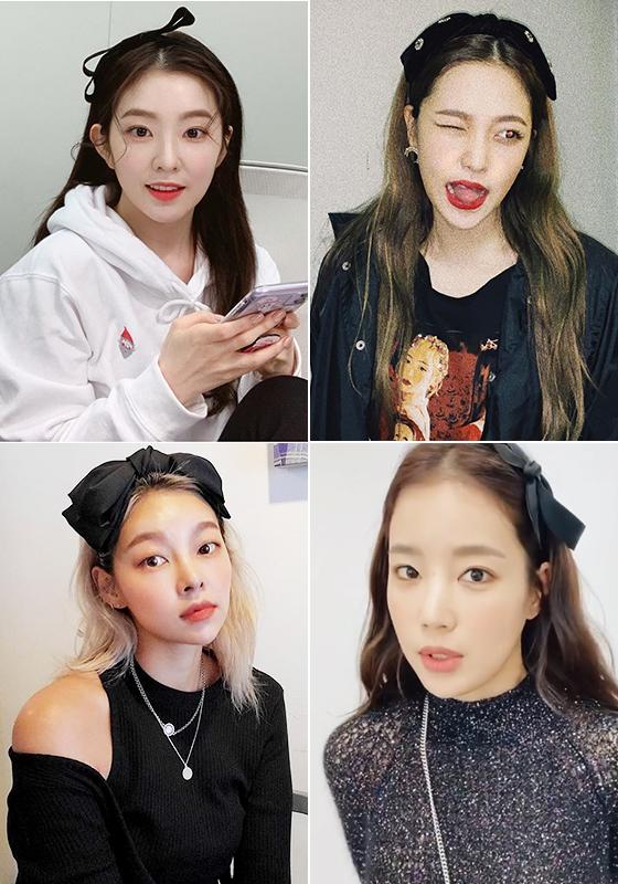 (왼쪽부터 시계 방향으로) 그룹 레드벨벳 아이린, 예리, 배우 기은세, 모델 송해나/사진=각 스타 인스타그램
