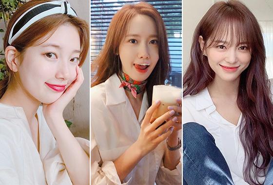 가수 겸 배우 수지, 윤아, 그룹 구구단 세정/사진=각 스타 인스타그램