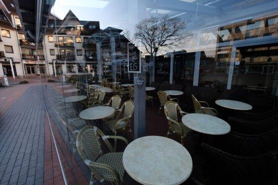 텅 빈 독일 식당/사진=AFP