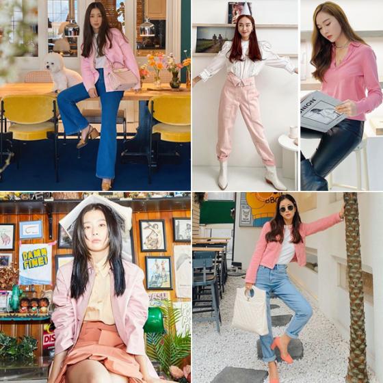 /사진=배우 기은세, 패션사업가 제시카, 그룹 레드벨벳 슬기 인스타그램