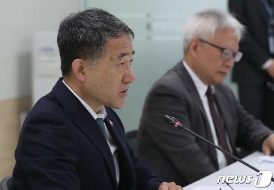[사진] 모두 발언하는 박능후 중앙재난안전대책본부 1차장