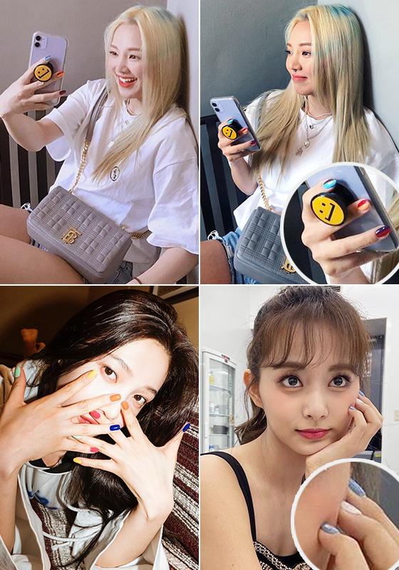 그룹 소녀시대 효연, 트와이스 쯔위, 레드벨벳 조이/사진=각 스타 인스타그램