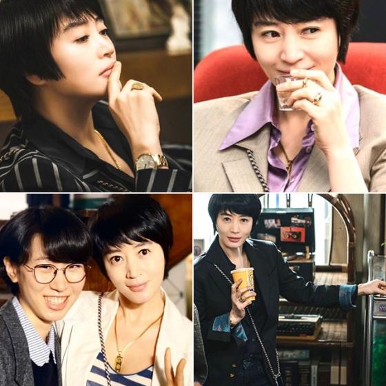 /사진=배우 김혜수가 드라마 '하이에나' 속 정금자 캐릭터를 위해 만든 인스타그램 사진들