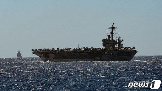 미 해군 핵추진 항공모함 USS 시어도어 루스벨트함(CVN 71). © AFP=뉴스1