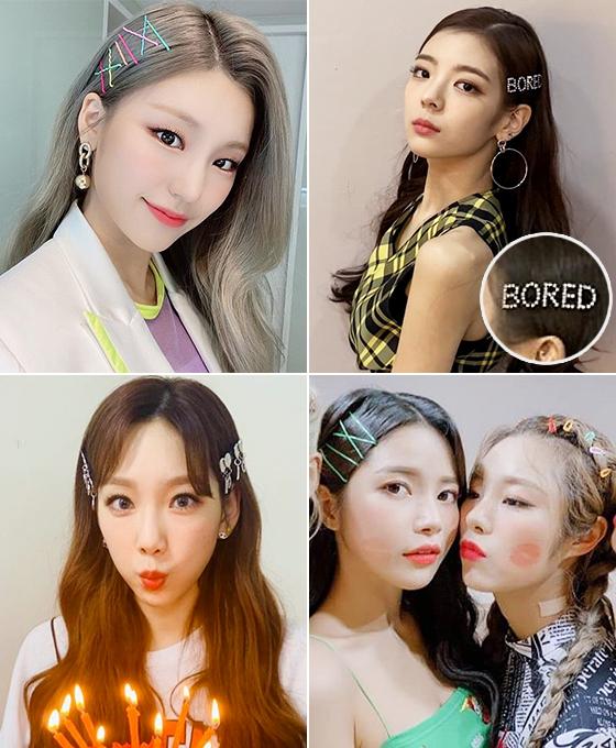 (왼쪽부터 시계 방향으로)그룹 있지 예지, 리아, 마마무 솔라, 휘인, 가수 태연/사진=각 스타 인스타그램