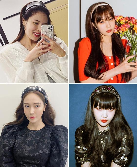 (왼쪽부터 시계 방향으로)가수 현아, 레드벨벳 조이, 가수 제시카/사진=각 스타 인스타그램