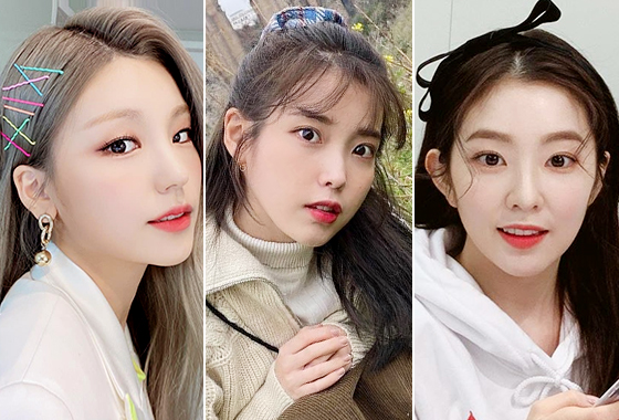 그룹 있지 예지, 가수 아이유, 레드벨벳 아이린/사진=각 스타 인스타그램
