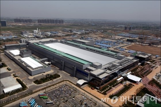 삼성전자 중국 시안 반도체 공장 전경/사진=머니투데이DB