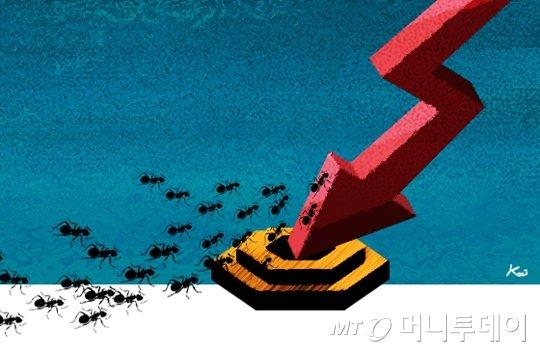 삽화,주식시황1,하락,2,개미,투자자 / 사진=김현정디자이너