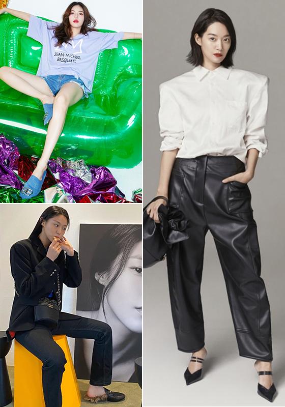 (왼쪽부터 시계 방향으로) 가수 현아, 배우 신민아, 그룹 AOA 설현/사진=클라이드앤, 각 스타 인스타그램