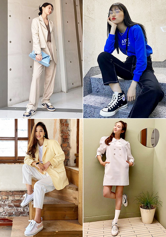 (왼쪽부터 시계 방향으로) 그룹 AOA 설현, 위키미키 김도연, 가수 제시카, 배우 기은세/사진=각 스타 인스타그램