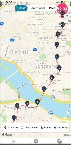 안철수 국민의 당 대표의 국토종단 마지막날 주행 경로 지도/사진=안철수 트위터