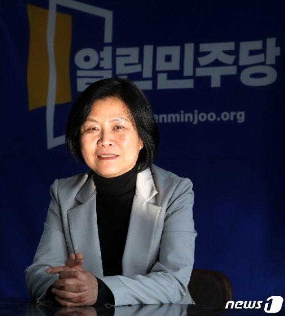 강민정 열린민주당 제21대 국회의원 비례대표 당선인./뉴스1 © News1 황기선 기자