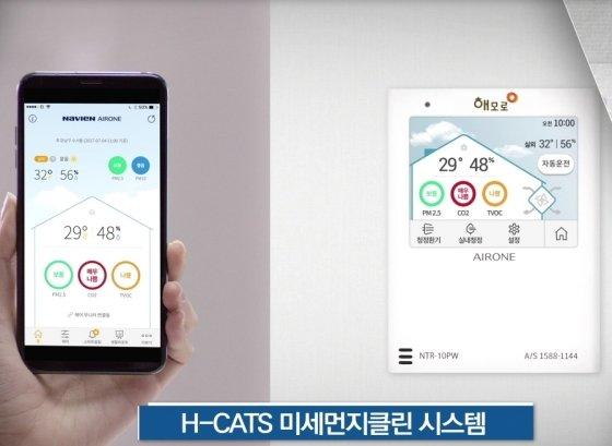 한진중공업이 자체 개발한 미세먼지 통합관리 시스템 'H-CATS'(Haemoro Clean Air Total System) /사진제공=한진중공업