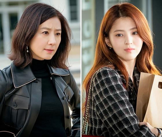 배우 김희애, 한소희 /사진=JTBC '부부의 세계' 공식 홈페이지 이미지