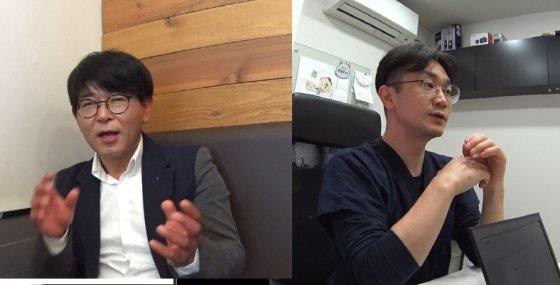 똘이를 배우게 해준, 반려견 동물심리전문가 한준우 딩고코리아 대표(왼쪽)과 마이펫상담소 윤샘./사진=남형도 기자
