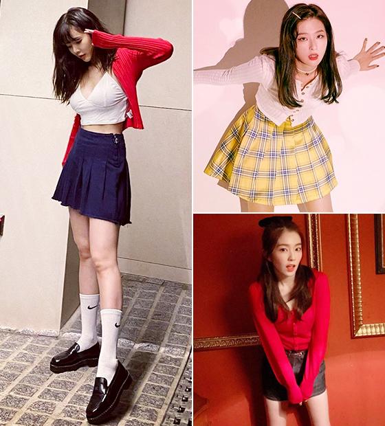 가수 현아,그룹 레드벨벳 슬기, 아이린/사진=각 스타 인스타그램