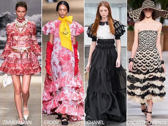 /사진=짐머만, 에르뎀, 샤넬, 오스카 드 라 렌타 2020 봄여름 컬렉션