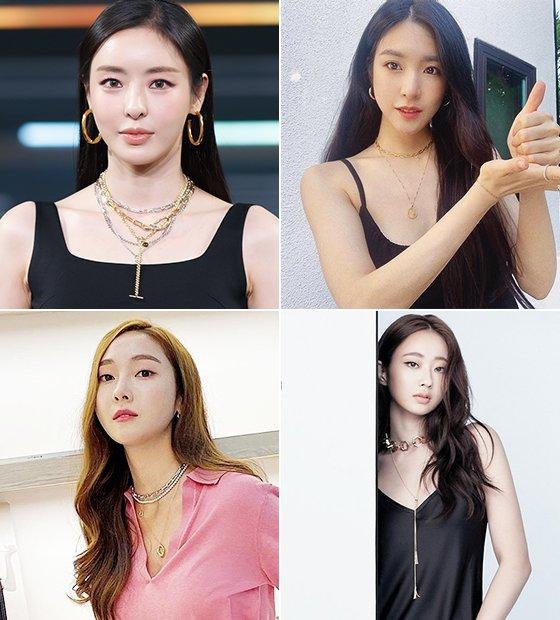 배우 이다희, 가수 티파니 영, 경리, 제시카/사진=엠넷, 각 스타 인스타그램