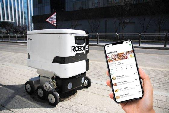 식권대장과 로보티즈 로봇 /사진제공=벤디스