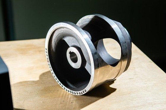 중심축이 치우치지 않는 설계를 통해 개발한 단일채널 펌프용 회전체/사진=생기원