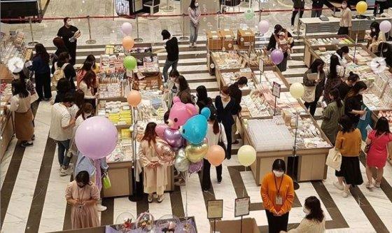 지난 5월8~14일 김해신세계백화점 다꾸페 /사진=마켓카리브 인스타그램