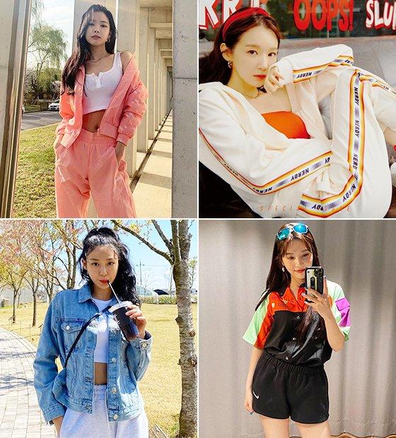 그룹 에이핑크 손나은, 다비치 강민경, 레드벨벳 조이, AOA 설현/사진=각 스타 인스타그램, 더스타