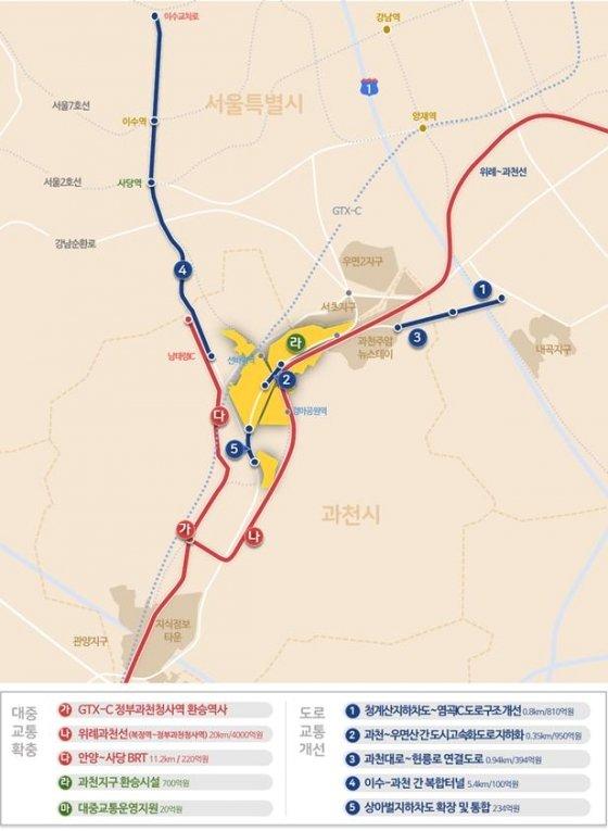 과천 과천지구 광역교통망 계획. /자료=국토교통부