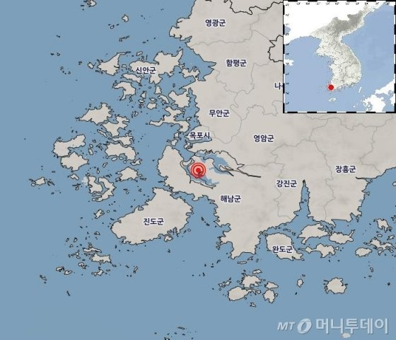[서울=뉴시스] 최동준 기자 = 3일 전라남도 해남군에서 규모 3.1의 지진이 발생했다. 기상청에 따르면 이날 오후 10시7분께 전남 해남군 서북서쪽 21㎞ 지역에서 규모 3.1의 지진이 일어났다. 진앙은 북위 34.66도, 동경 126.40도다. (사진=기상청 홈페이지 캡쳐). 2020.05.03.   photo@newsis.com