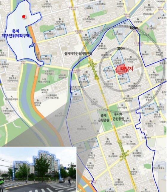 노원구 중계동 514번지 위치도/자료=서울시